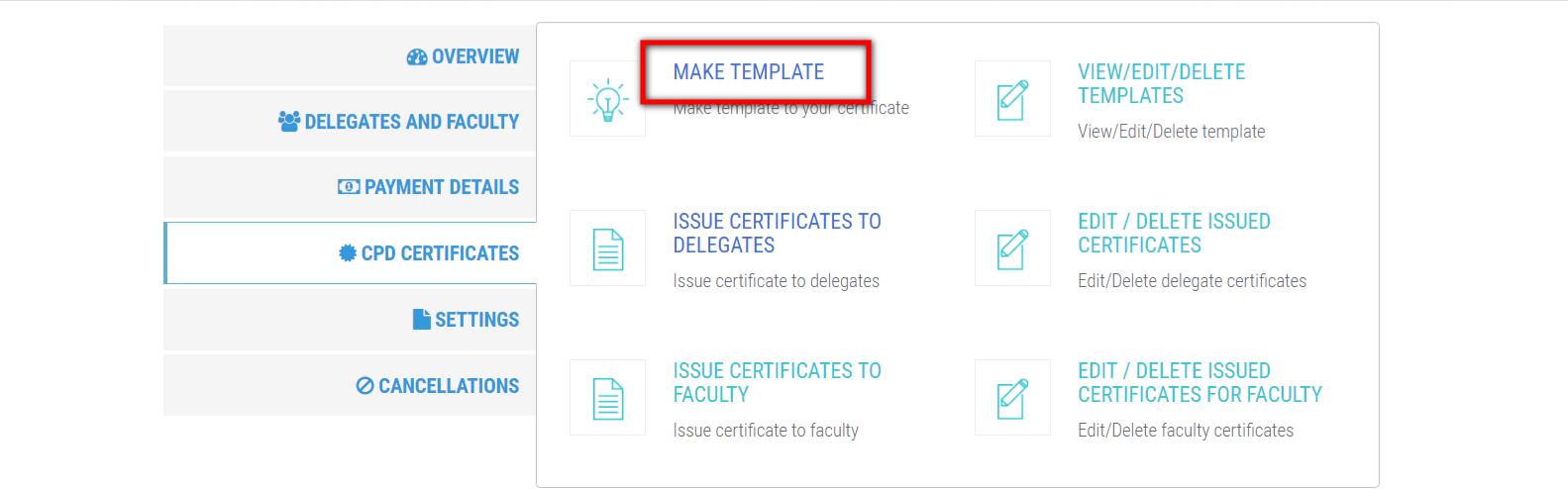 make certificate template bookcpd com